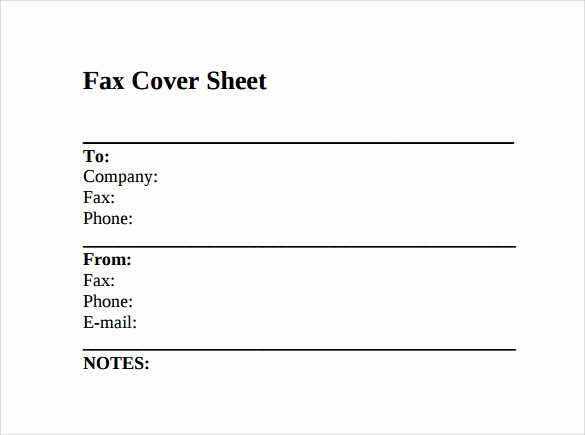 Fax Cover Sheet Sample Template Lovely 12 Fax Cover Sheet Samples Templates Examples