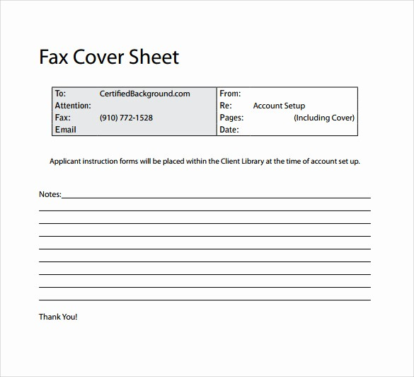 Fax Cover Sheet Sample Template Lovely 14 Sample Basic Fax Cover Sheets