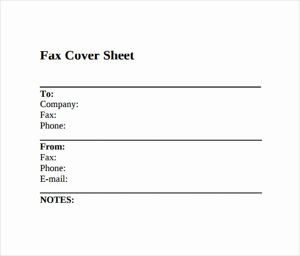 Fax Cover Sheet Sample Template Unique 11 Sample Fax Cover Sheets