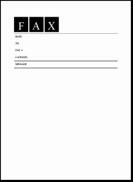 Fax Cover Sheet Template Microsoft Awesome 6 Fax Cover Sheet Templates Excel Pdf formats