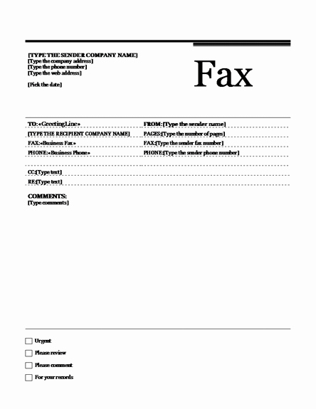 Fax Cover Sheet Template Microsoft Fresh Fax Template Fax Templates
