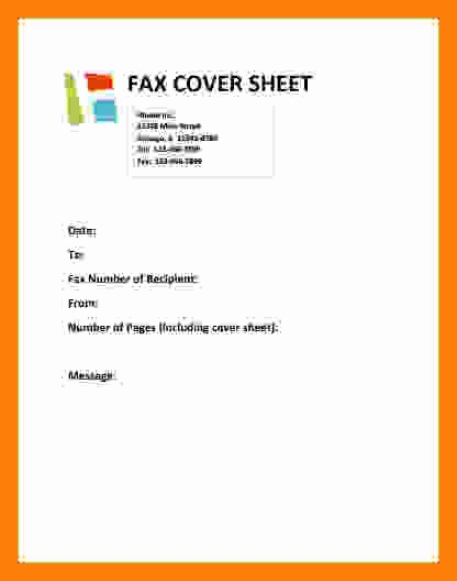 Fax Cover Sheet with Logo Awesome 9 Cover Sheet