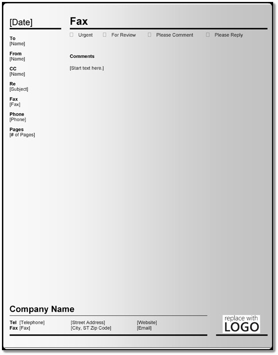 Fax Cover Sheet with Logo New Sample Fax Cover Sheet Templates – 5 Free Blank Examples