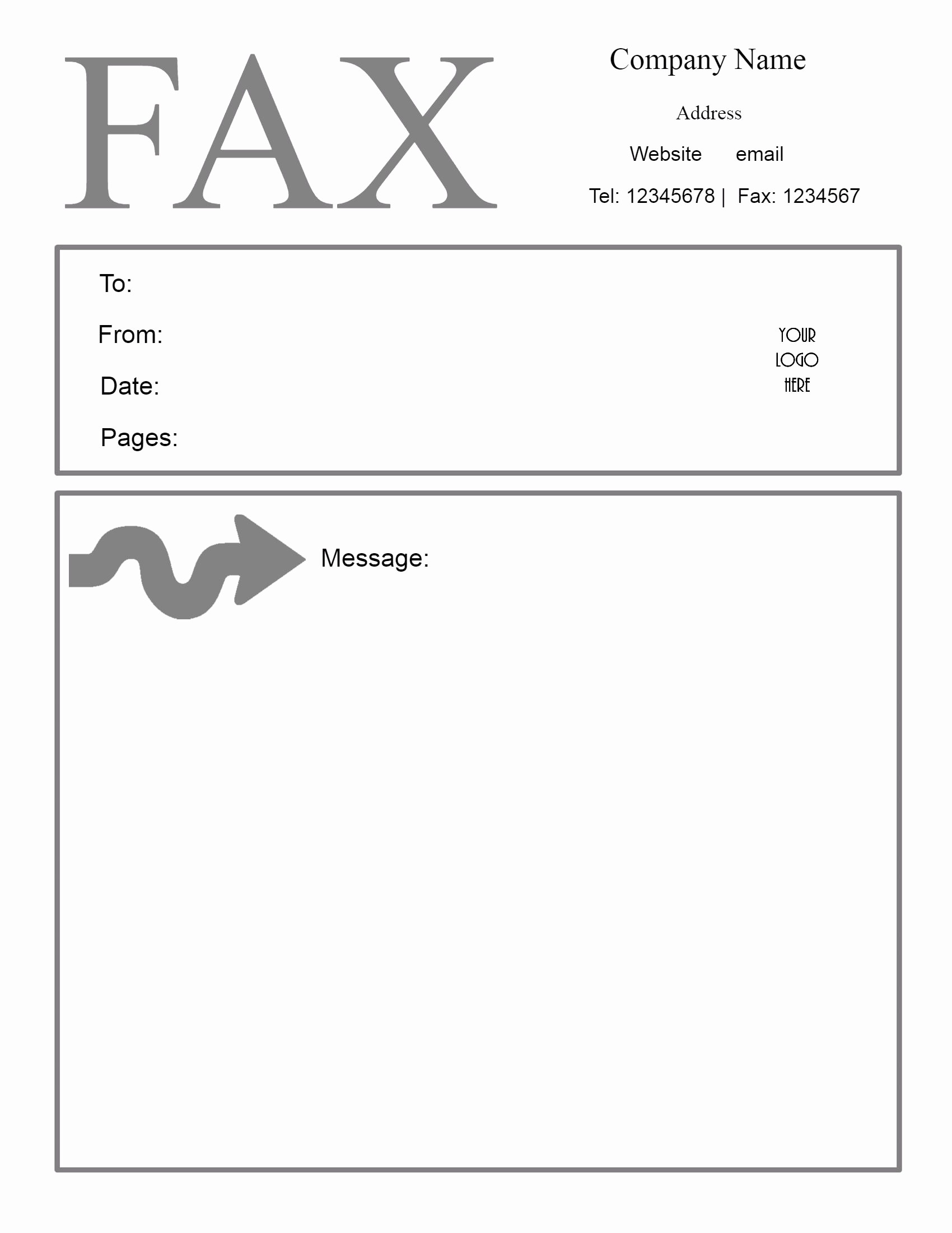 Fax Cover Sheet Word Document Awesome Free Fax Cover Letter Template