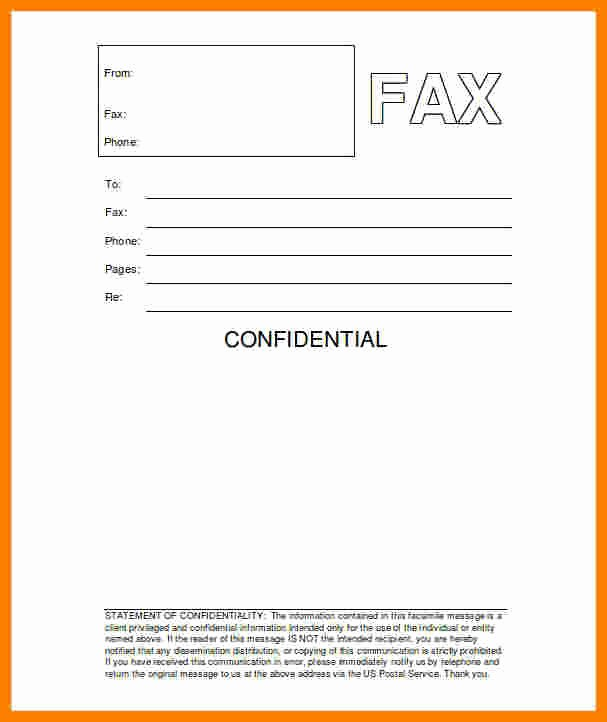 10 printable professional fax cover sheet