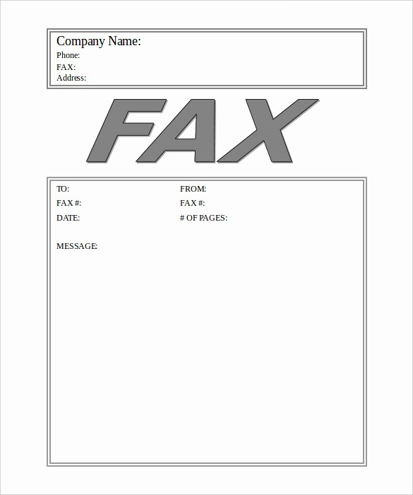 Fax Cover Sheet Word Document Best Of Generic Fax Cover Sheet
