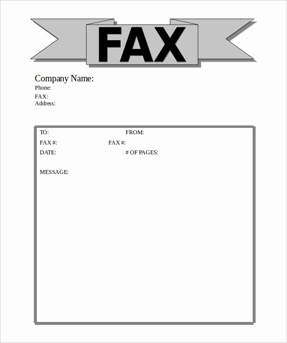 Fax Cover Sheet Word Document Elegant 9 Business Fax Cover Sheet Templates Free Sample