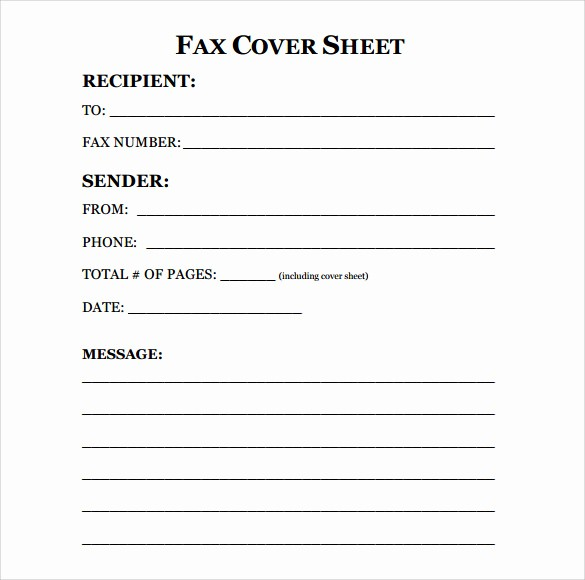 Fax Cover Sheet Word Document Inspirational 11 Sample Fax Cover Sheets