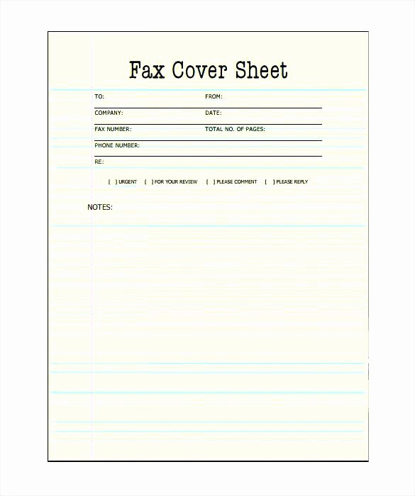 Fax Cover Sheet Word Document Lovely Fax Cover Sheet Template Printable Blank Page Pdf – Grnwav
