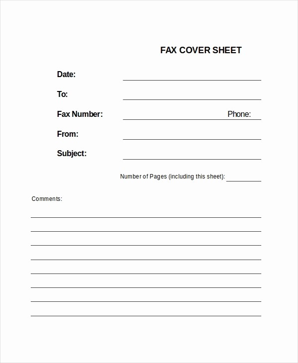 Fax Cover Sheet Word Document New Fax Sheet Template 3 Free Word Documents Download