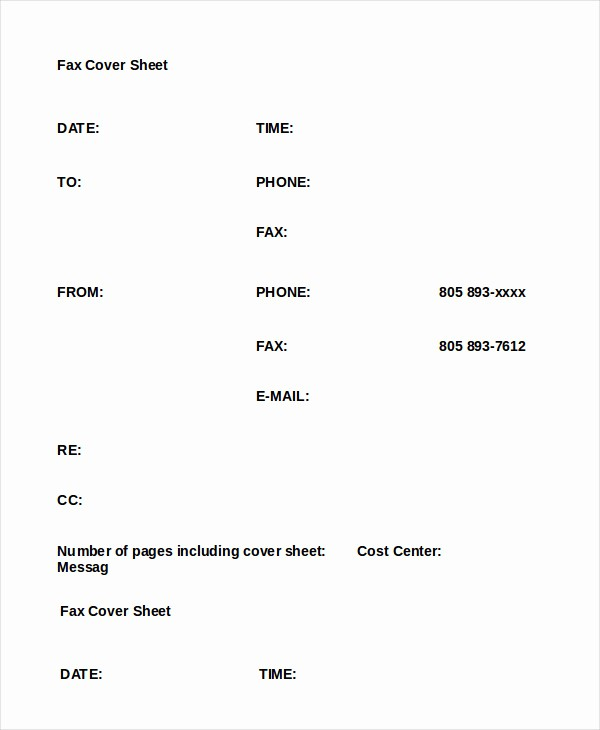 Fax Cover Sheet Word Document Unique Word Fax Template 12 Free Word Documents Download