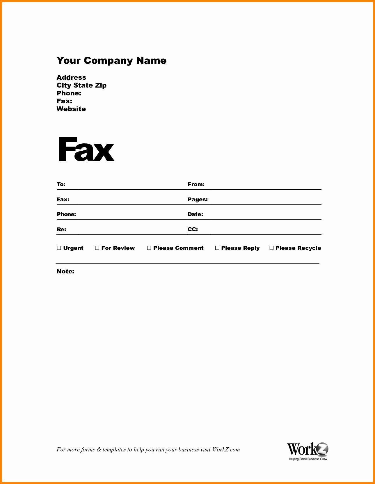 Fax Cover Sheet Word Template Beautiful Fax Cover Template Word Portablegasgrillweber