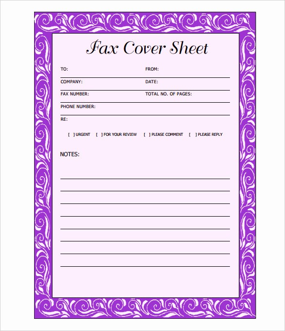 Fax Cover Sheet Word Template Fresh 12 Cover Sheet Doc Pdf