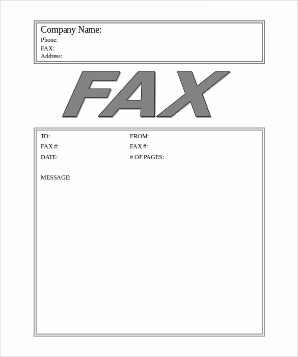 Fax Cover Sheet Word Template Fresh 12 Fax Cover Sheet Templates Free Word Pdf Samples