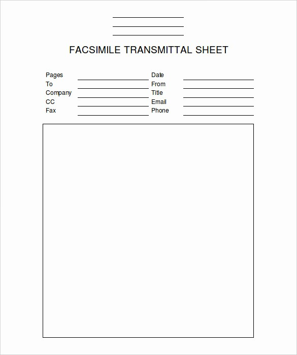 Fax Cover Sheet Word Template Inspirational 9 Fax Cover Sheet Templates – Free Sample Example