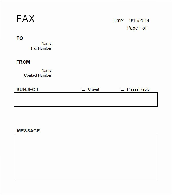 Fax Cover Sheet Word Template Unique Fax Cover Sheet Template Word