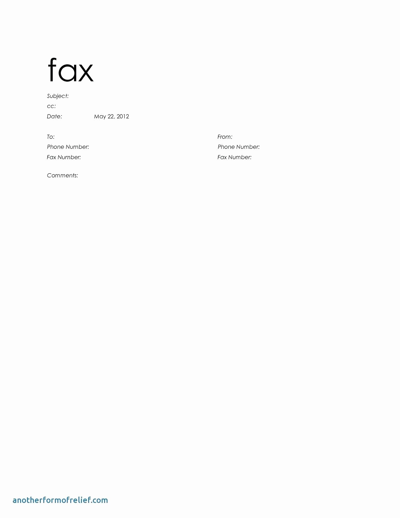 Fax Front Cover Sheet Template Elegant Fax Cover Sheet Word Template