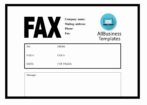 Fax Front Cover Sheet Template Lovely Fax Cover Sheet Templates