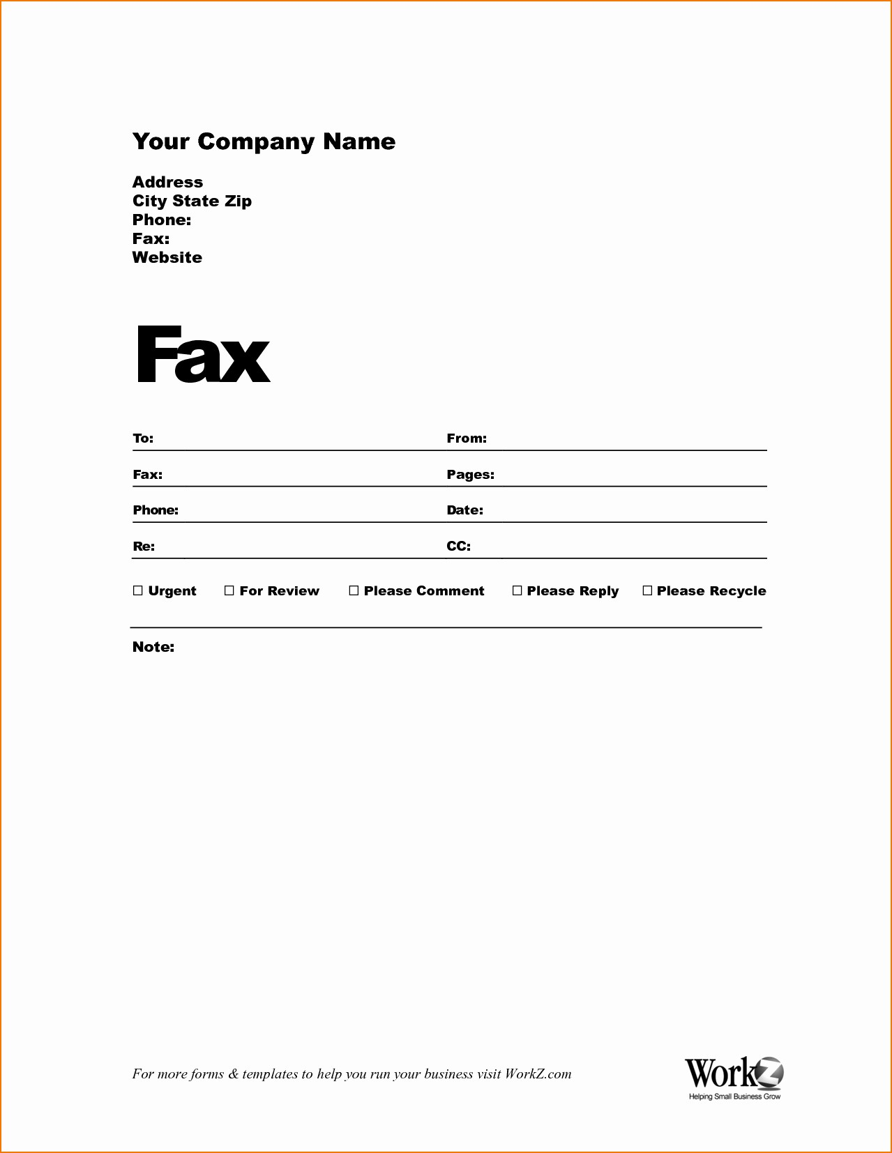 Fax Front Cover Sheet Template Lovely Sample Fax Cover Sheet