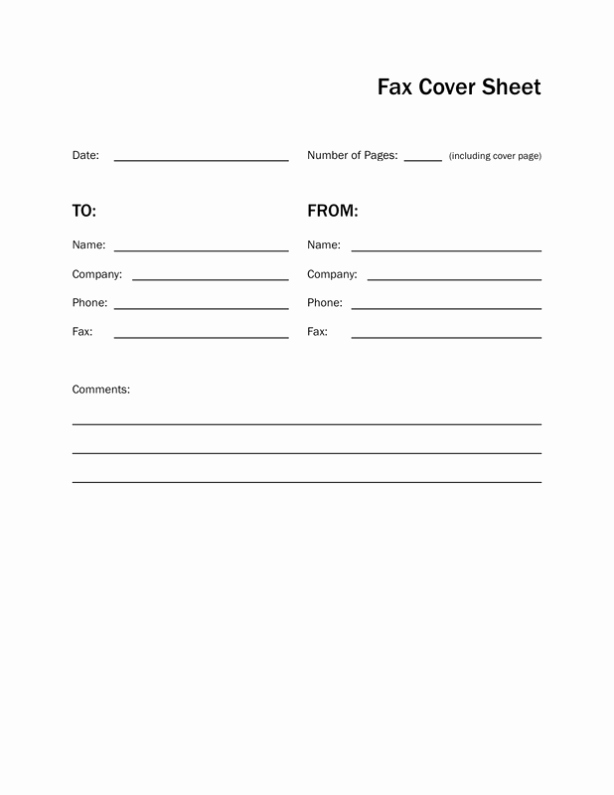 Fax Front Cover Sheet Template New Printable Fax Cover Sheet & Letter Template
