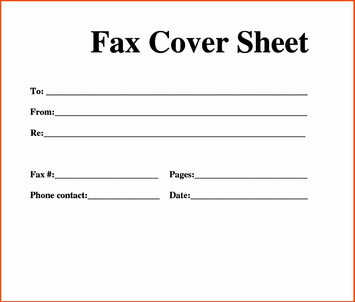 Fax Front Cover Sheet Template Unique Printable Fax Cover Sheet & Letter Template