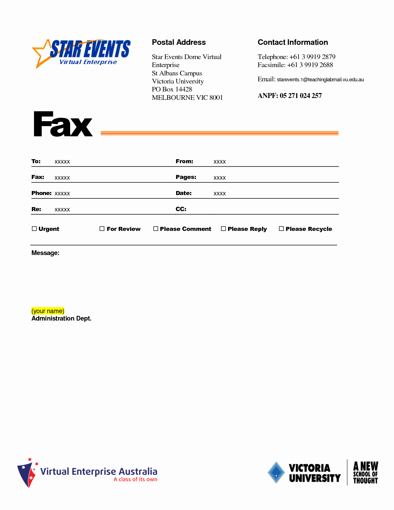 Fax Template In Word 2010 Best Of 10 Best Of Fax Template Free Fax Cover Sheet