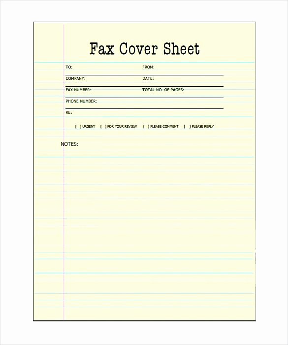 Fax Template In Word 2010 Fresh Printable Fax Cover Sheet Free Word Documents Download In