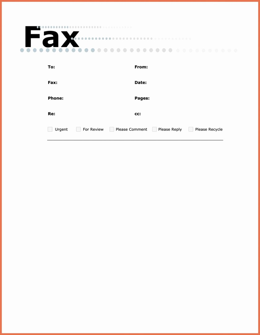 Fax Template In Word 2010 Lovely Fax Cover Sheet Template Word 2010