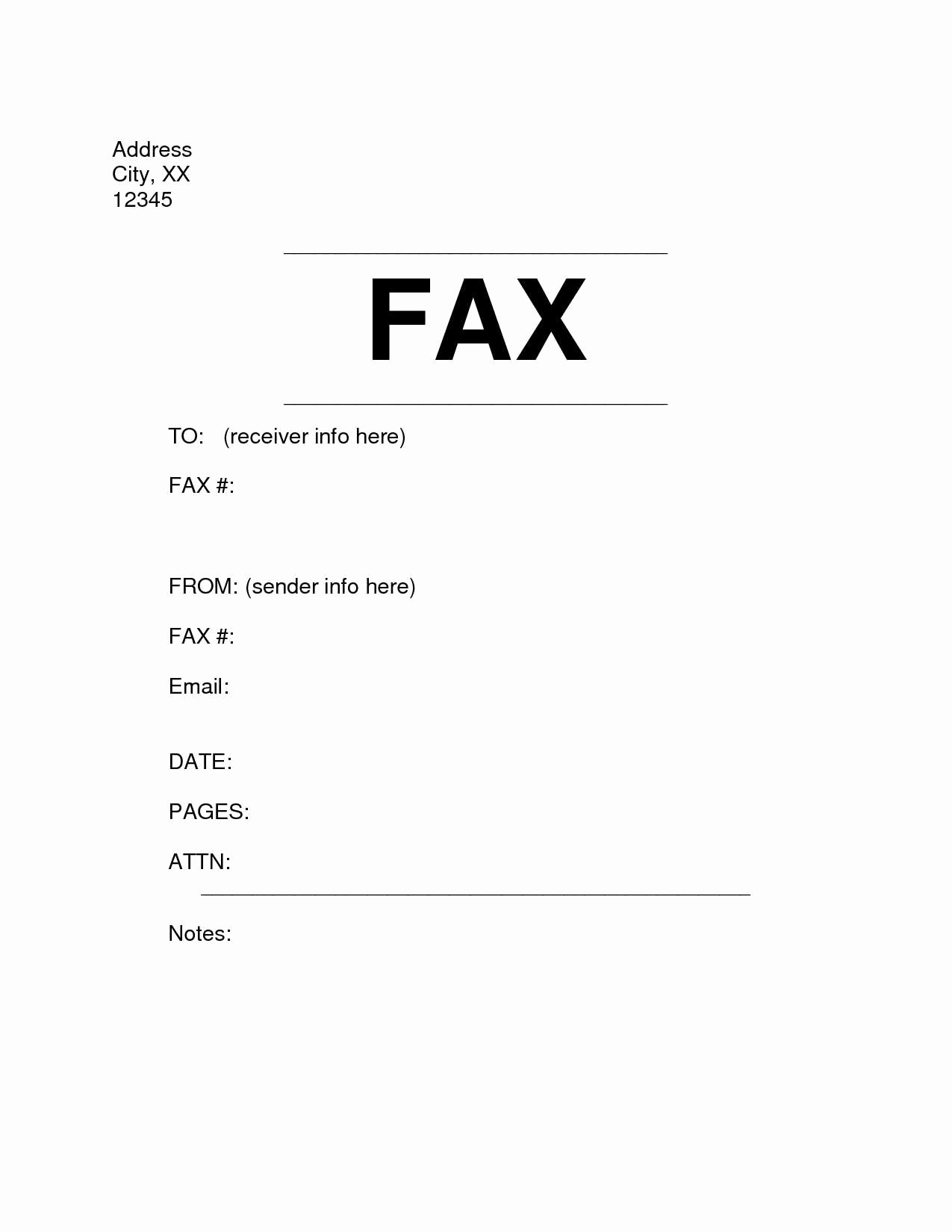 Fax Template In Word 2010 Lovely Microsoft Word Fax Cover Letter Template Examples