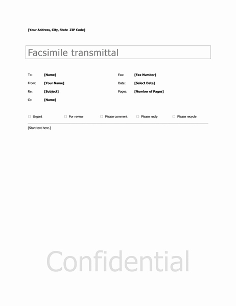 Fax Template In Word 2010 Unique Microsoft Fice Templates Fax Cover Sheet