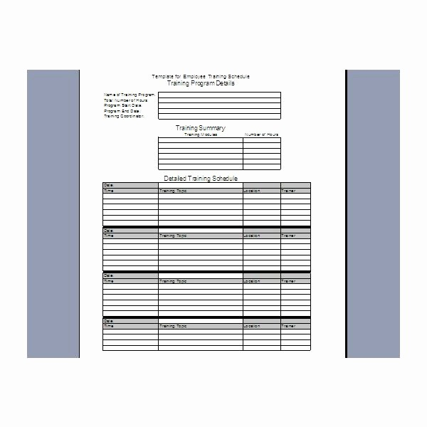 Fee Schedule Template Microsoft Office Best Of Training Schedule Template