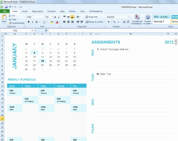 Fee Schedule Template Microsoft Office Lovely Free Student Planning Template for Excel 2007 & 2010