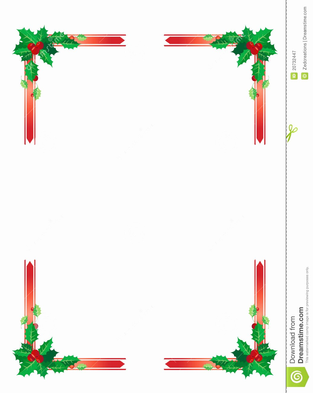 Festive Borders for Word Document Awesome Christmas Border Stock Vector Illustration Of Cranberries