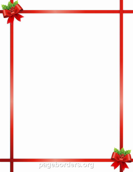 Festive Borders for Word Document Awesome Christmas Ribbon Border Clip Art Page Border and Vector