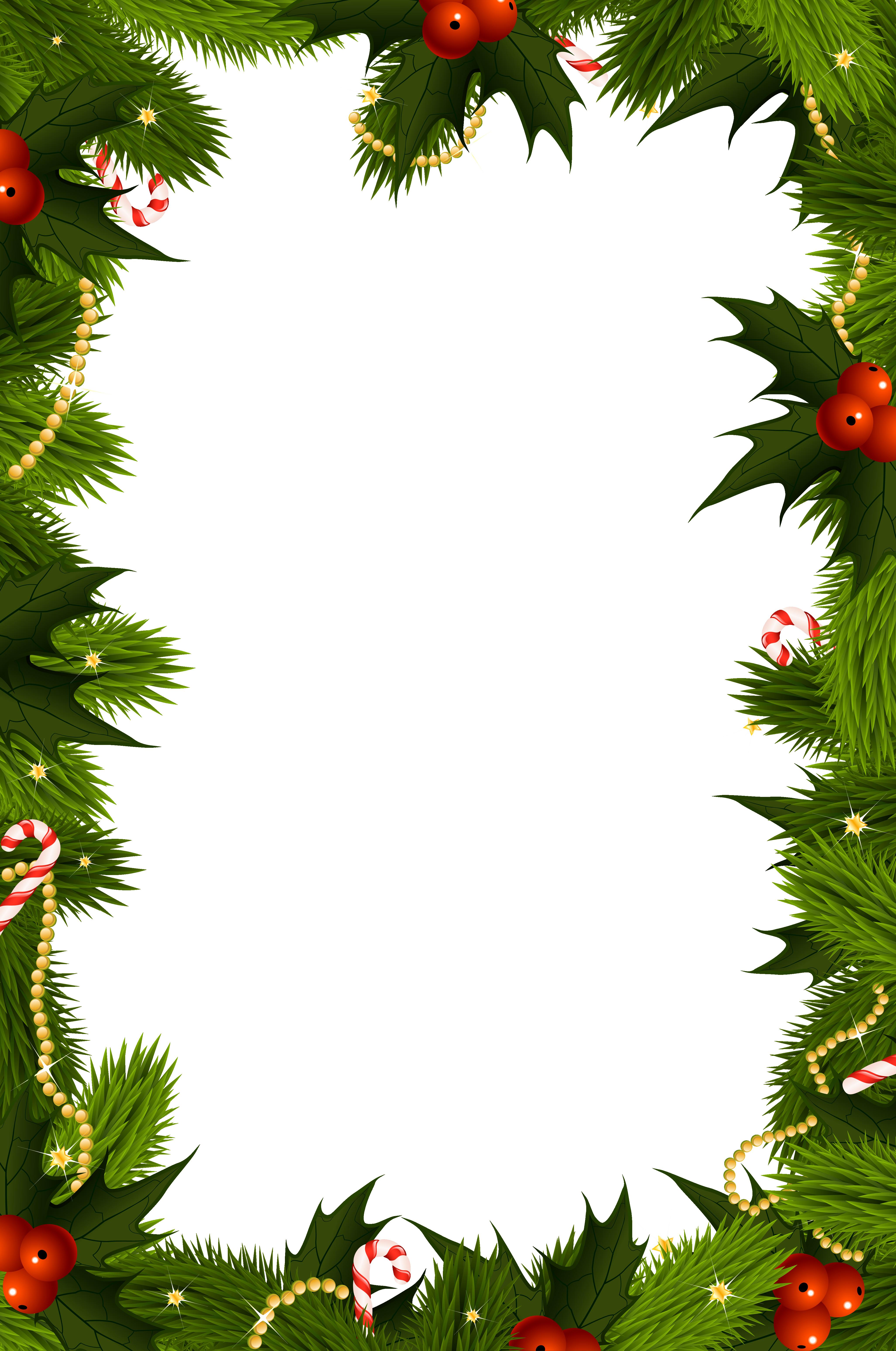 Festive Borders for Word Document Beautiful Transparent Christmas Border – Happy Holidays