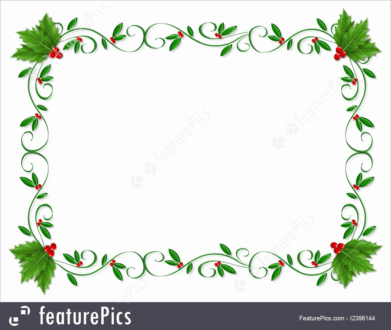 Festive Borders for Word Document Best Of Christmas Holly Border ornamental Illustration