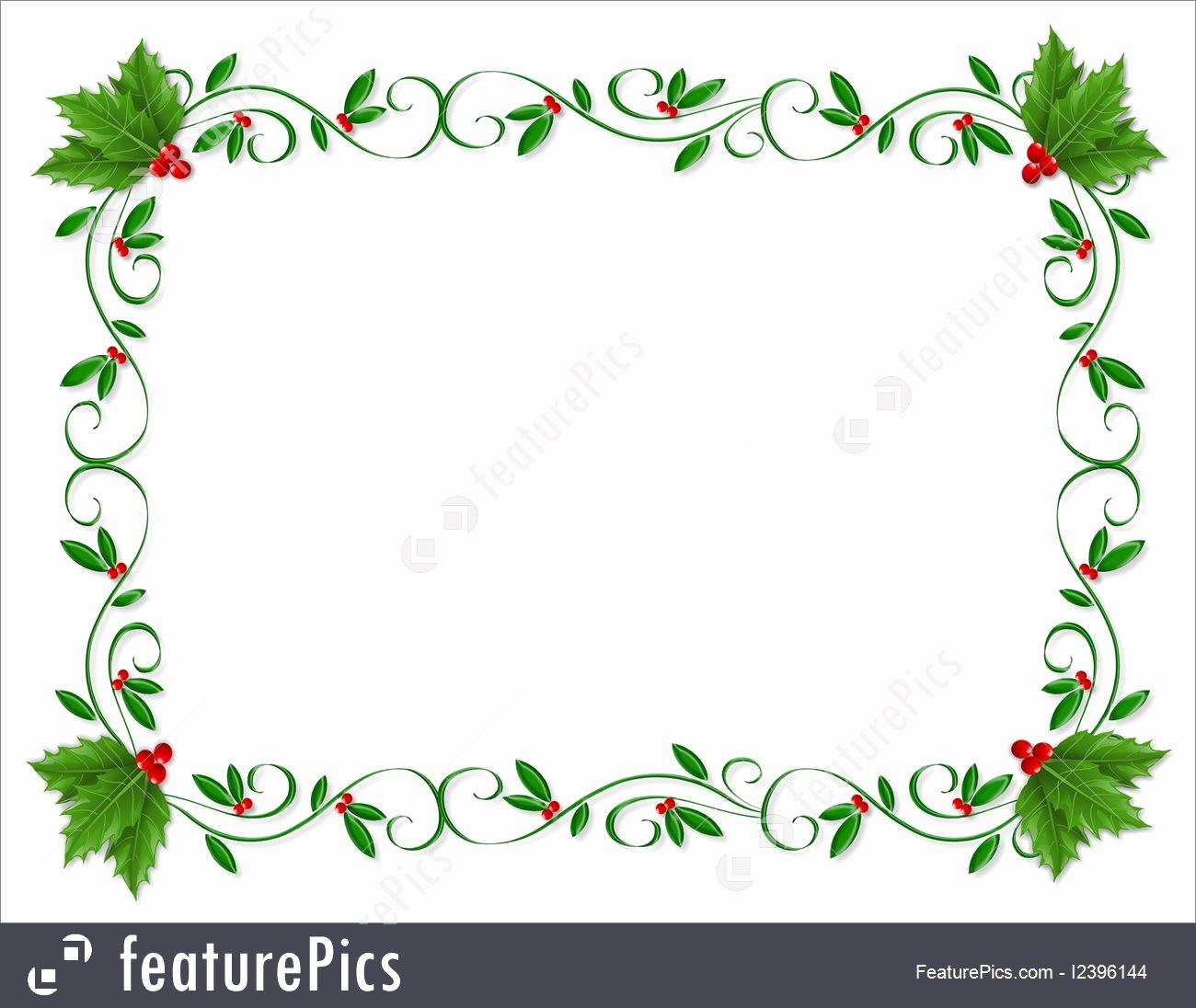 Festive Borders for Word Document Best Of Christmas Holly Border ornamental Illustration