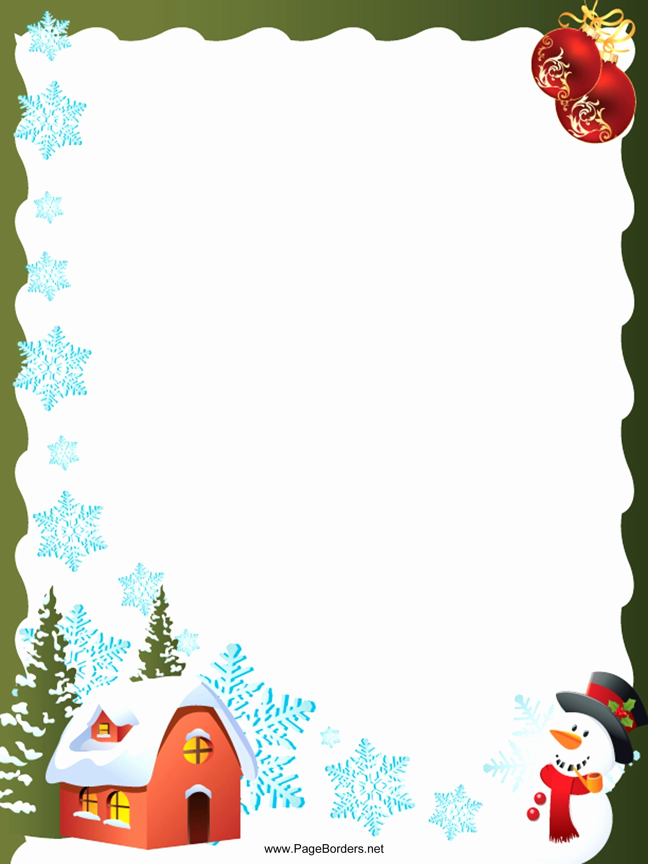 Festive Borders for Word Document Fresh Template Microsoft Word Christmas Letter Template