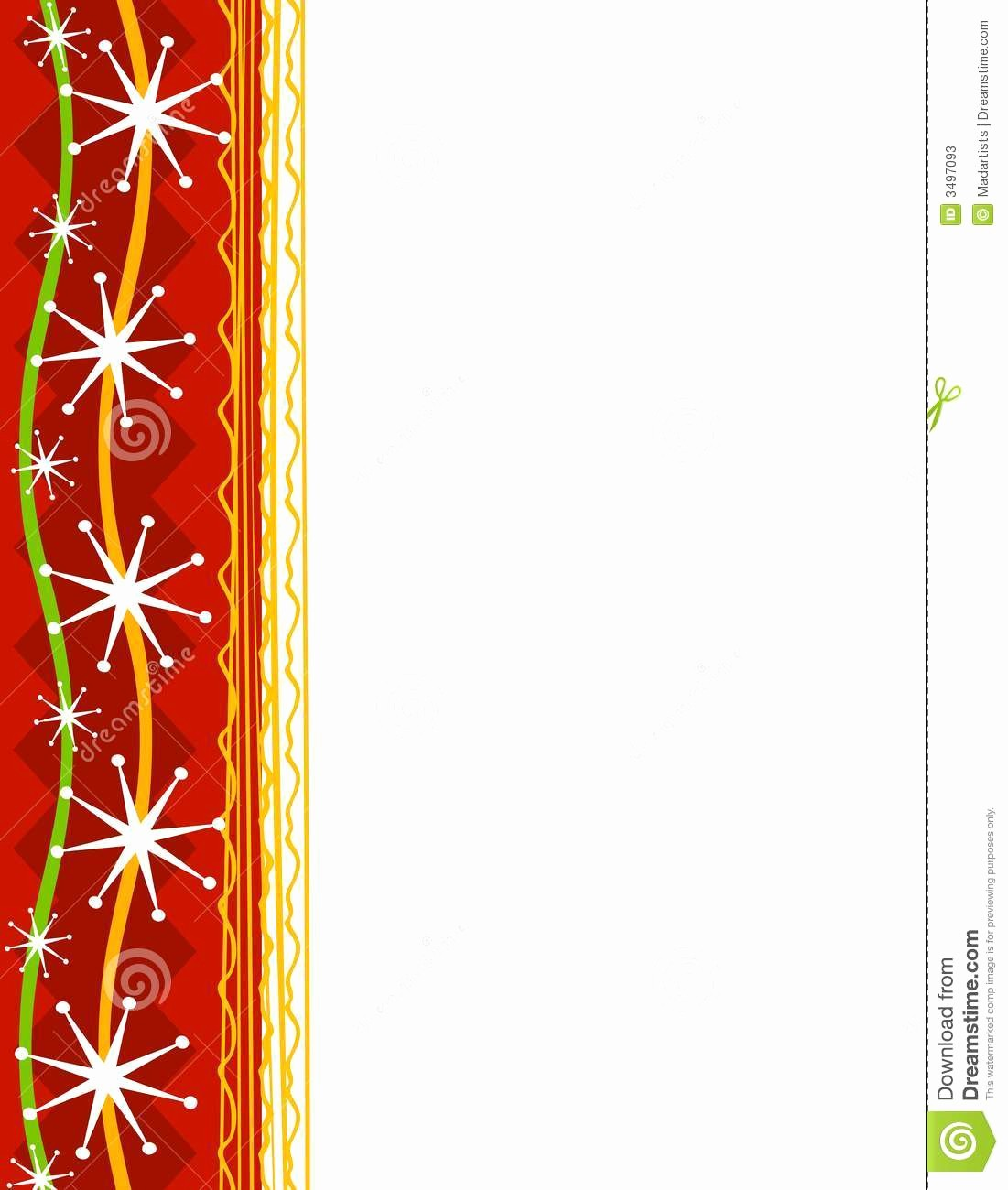 Festive Borders for Word Document Lovely Decorative Christmas Border 1 Stock Illustration