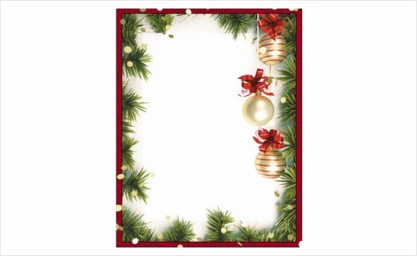 Festive Borders for Word Document Luxury Christmas Borders for Word Documents