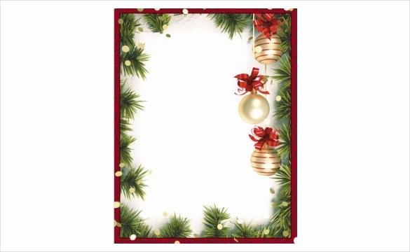 Festive Borders for Word Document Luxury Christmas Borders for Word Documents