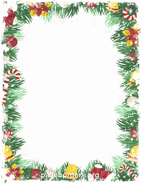 Festive Borders for Word Document Luxury Christmas Page Border Clipart – 101 Clip Art