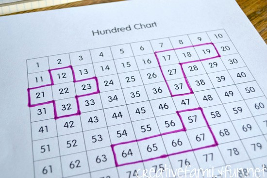 Fill In Graph Paper Online Lovely Hundred Chart Fill In the Blank Puzzles Creative Family Fun