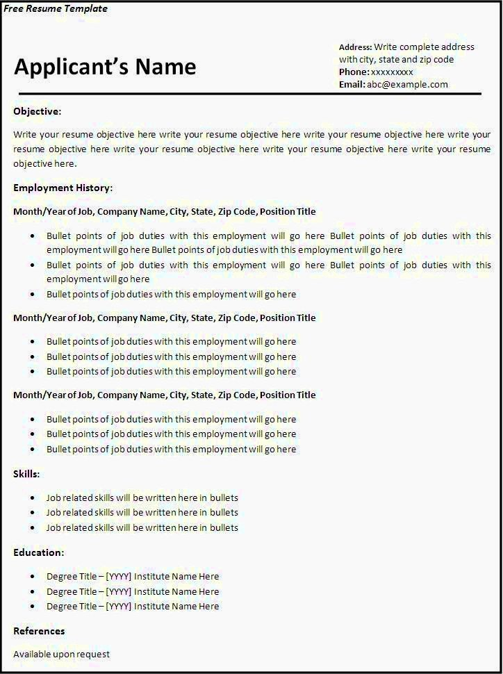 Fill In Resume Template Free Awesome Fill In Blank Resume Templates Free