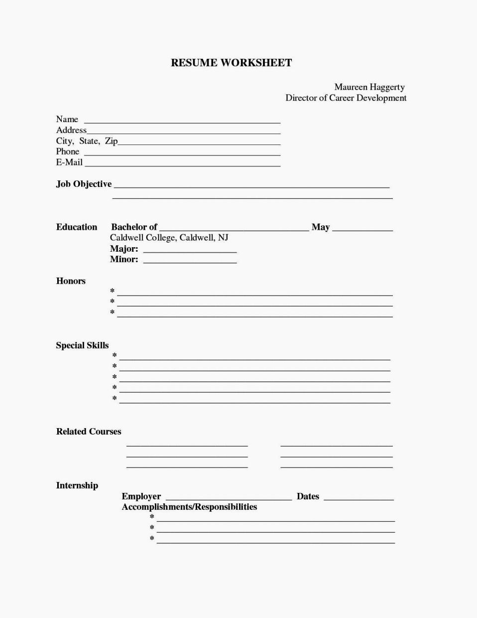 Fill In Resume Template Free Beautiful Fill In Blank Resume Templates Free