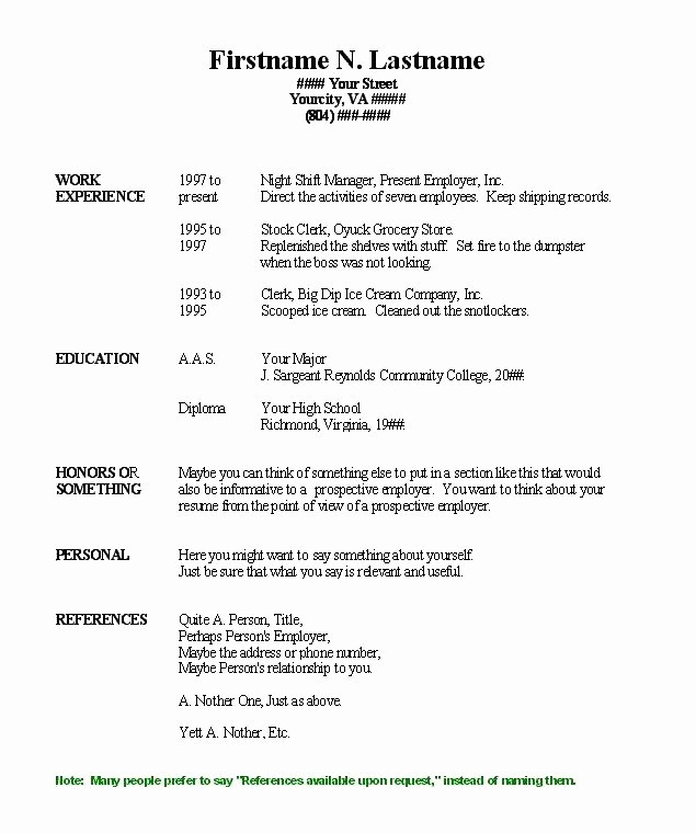 Fill In Resume Template Free Best Of Pin Blank Resume Fill In Pdf