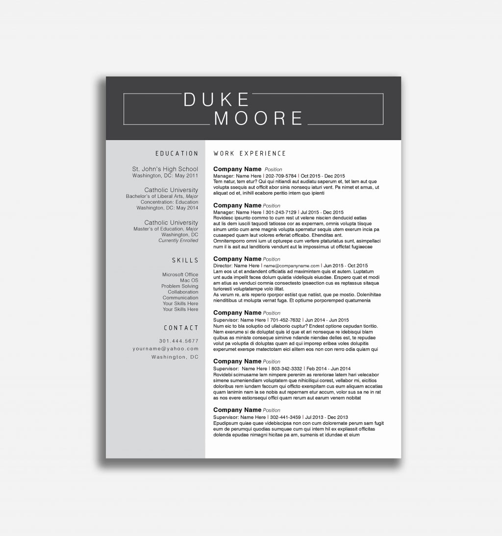 Fill In Resume Template Free Best Of Resume and Template Free Blank Resume Templates Download