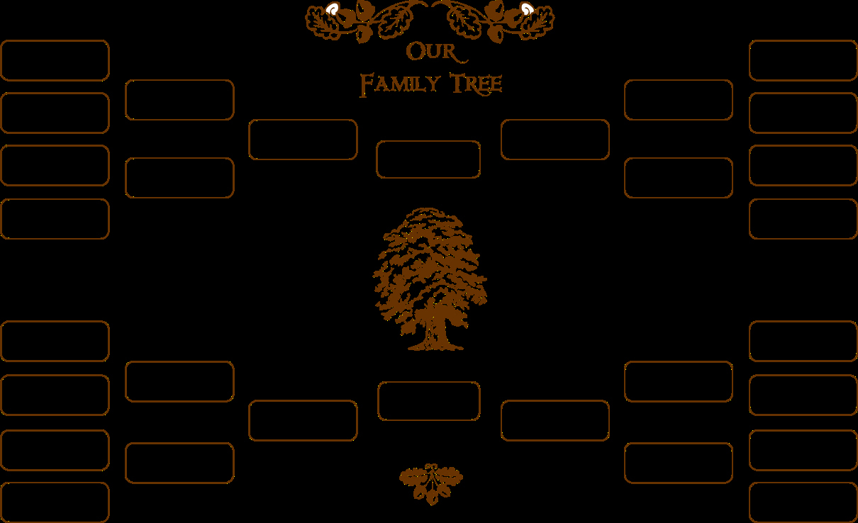 Fillable 6 Generation Family Tree Elegant Blank Family Tree Template