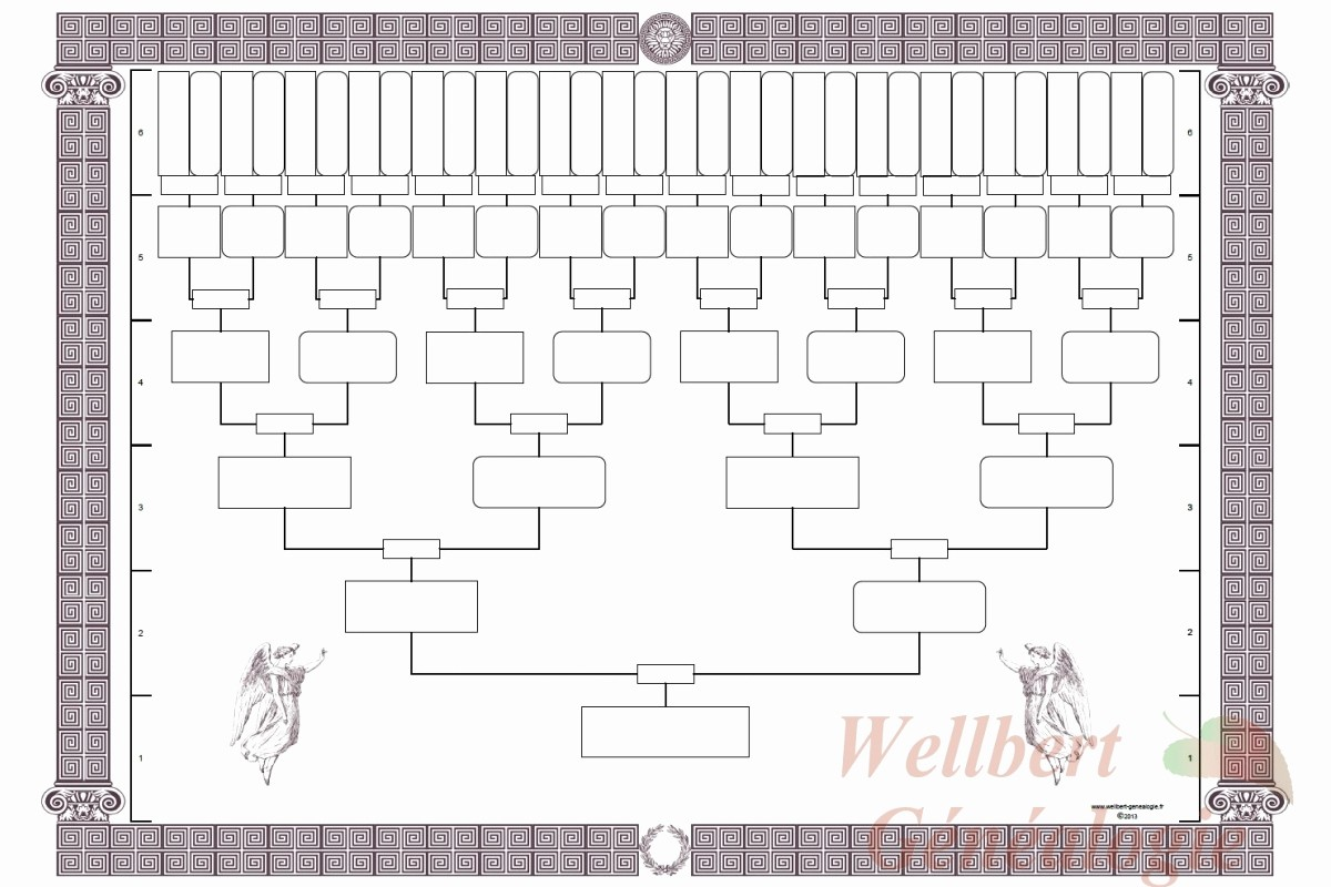 Fillable 6 Generation Family Tree Elegant Printable 6 Generation Pedigree Chart Printable Family