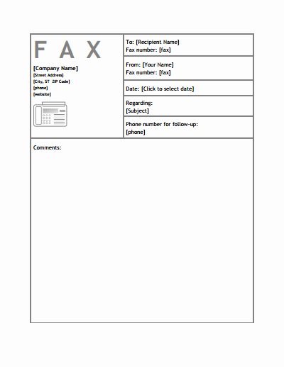 Fillable Fax Cover Sheet Template Best Of Generic Fax Cover Sheet Template Download Create Edit